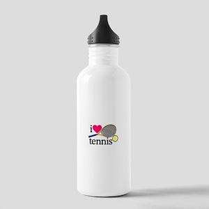 I Love Tennis/Racquet Water Bottle