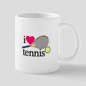 I Love Tennis/Racquet Mugs