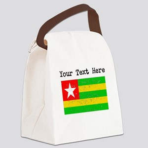 Togo Flag (Distressed) Canvas Lunch Bag