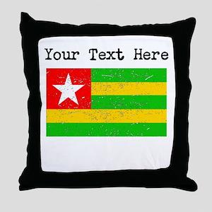 Togo Flag (Distressed) Throw Pillow