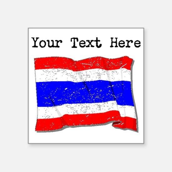Thailand Flag (Distressed) Sticker