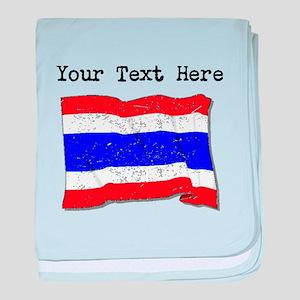 Thailand Flag (Distressed) baby blanket