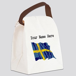 Sweden Flag (Distressed) Canvas Lunch Bag