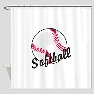 Softball Balls Shower Curtains