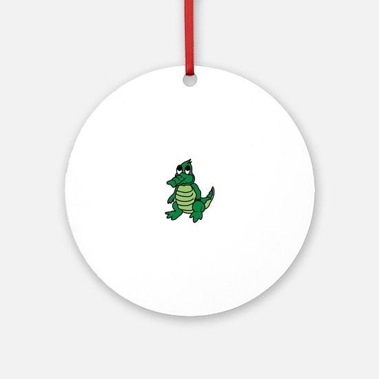 Baby Gator Ornament (Round)
