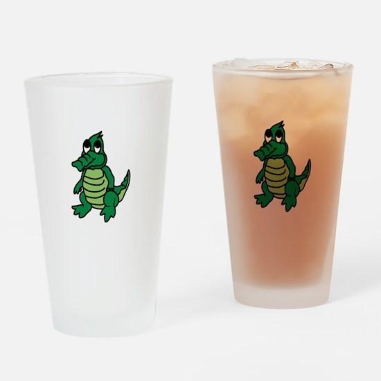 Baby Gator Drinking Glass
