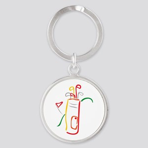 Golf Bag and Green Keychains