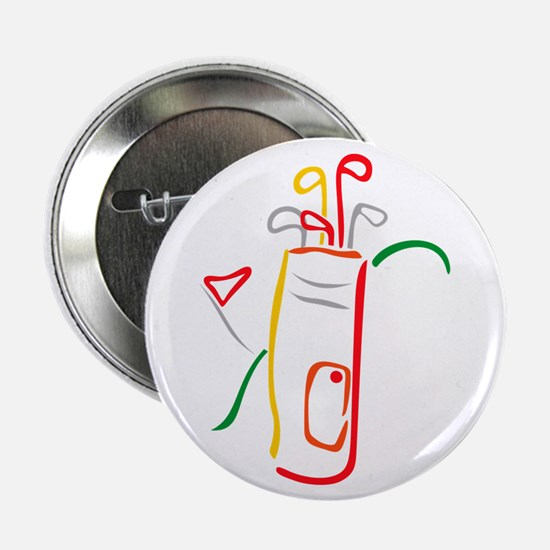 """Golf Bag and Green 2.25"""" Button (10 pack)"""