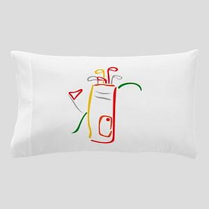 Golf Bag and Green Pillow Case