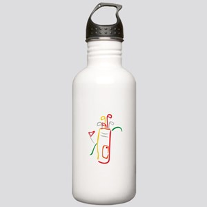 Golf Bag and Green Water Bottle