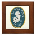 USS HUGH PURVIS Framed Tile
