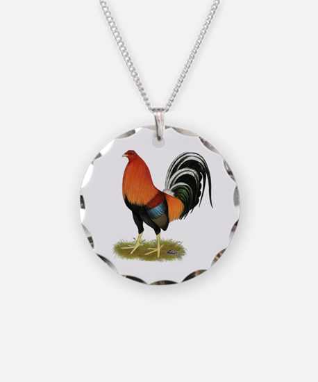 Gamecock Wheaten Rooster Necklace