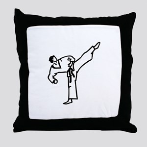 Karate Kick Throw Pillow