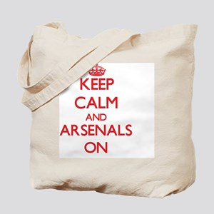 Keep Calm and Arsenals ON Tote Bag