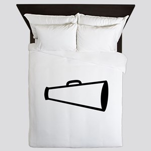 Megaphone Outline Queen Duvet