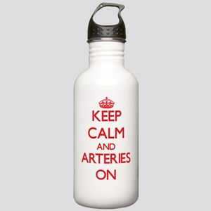 Keep Calm and Arteries Stainless Water Bottle 1.0L