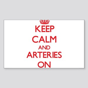 Keep Calm and Arteries ON Sticker