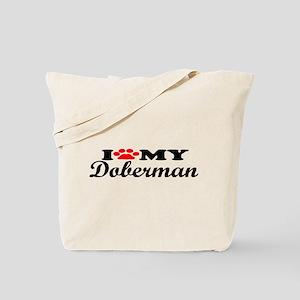 Doberman - I Love My Tote Bag