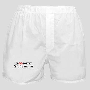 Doberman - I Love My Boxer Shorts