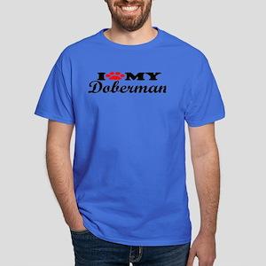 Doberman - I Love My Dark T-Shirt