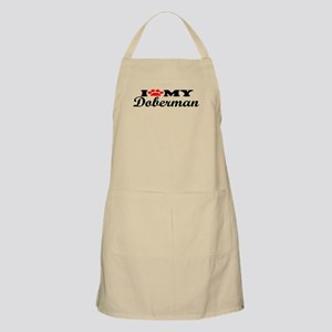 Doberman - I Love My BBQ Apron
