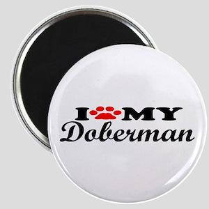 Doberman - I Love My Magnet