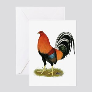 Gamecock Wheaten Rooster Greeting Cards
