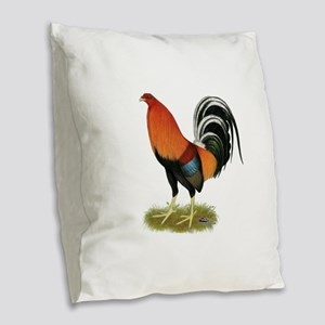 Gamecock Wheaten Rooster Burlap Throw Pillow