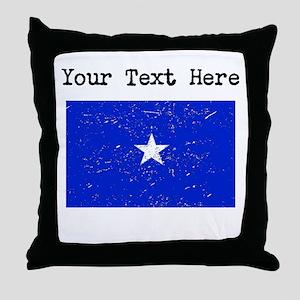 Somalia Flag (Distressed) Throw Pillow