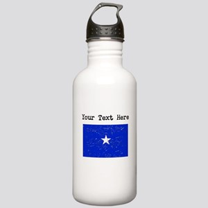 Somalia Flag (Distressed) Water Bottle