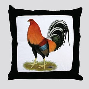 Gamecock Wheaten Rooster Throw Pillow