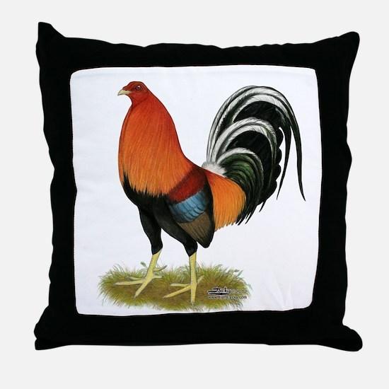 Gamecock Wheaten Rooster Throw Pillow