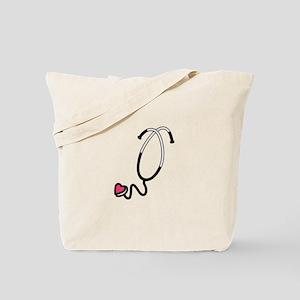 Heart Stethoscope Tote Bag