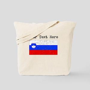 Slovenia Flag (Distressed) Tote Bag
