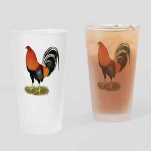 Gamecock Wheaten Rooster Drinking Glass
