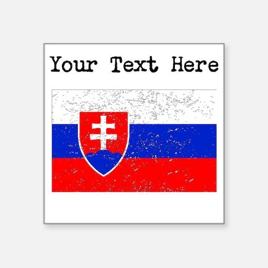 Slovakia Flag (Distressed) Sticker