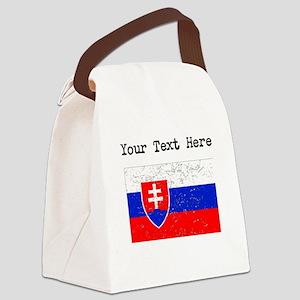Slovakia Flag (Distressed) Canvas Lunch Bag