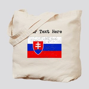 Slovakia Flag (Distressed) Tote Bag