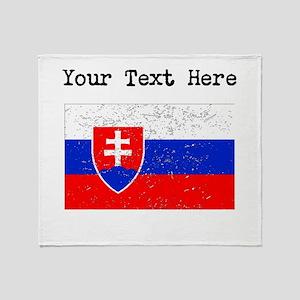 Slovakia Flag (Distressed) Throw Blanket