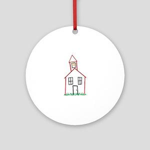 Schoolhouse Ornament (Round)