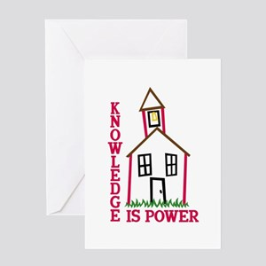 Knowledge Is Power Greeting Cards