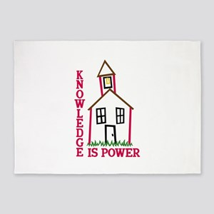 Knowledge Is Power 5'x7'Area Rug