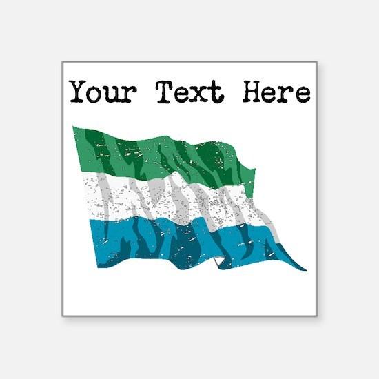 Sierra Leone Flag (Distressed) Sticker
