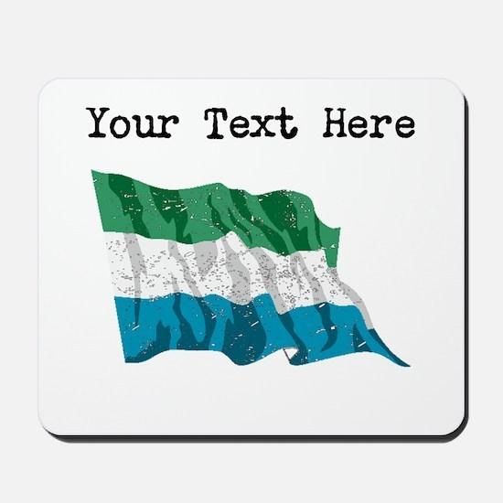 Sierra Leone Flag (Distressed) Mousepad