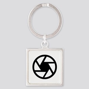 Camera lens Square Keychain