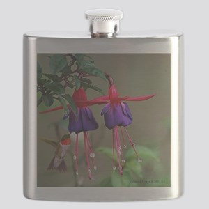 Fuchsia and Hummingbird  Flask