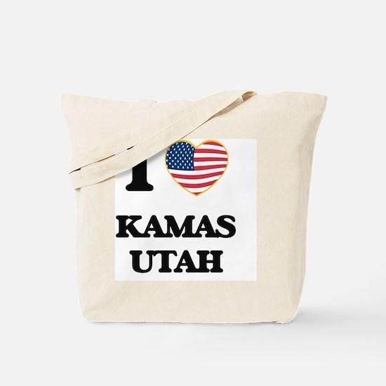 I love Kamas Utah Tote Bag