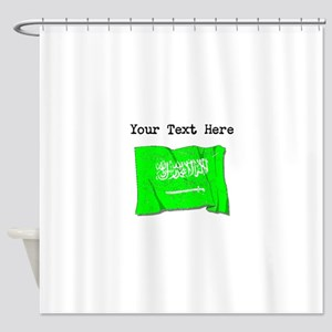 Saudi Arabia Flag (Distressed) Shower Curtain