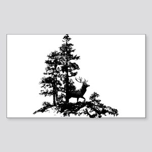Black White Stag Deer Animal Nature Sticker