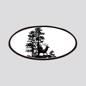 Black White Stag Deer Animal Nature Patch